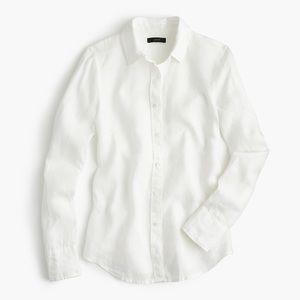 J. Crew Slim Perfect Shirt in Irish Linen